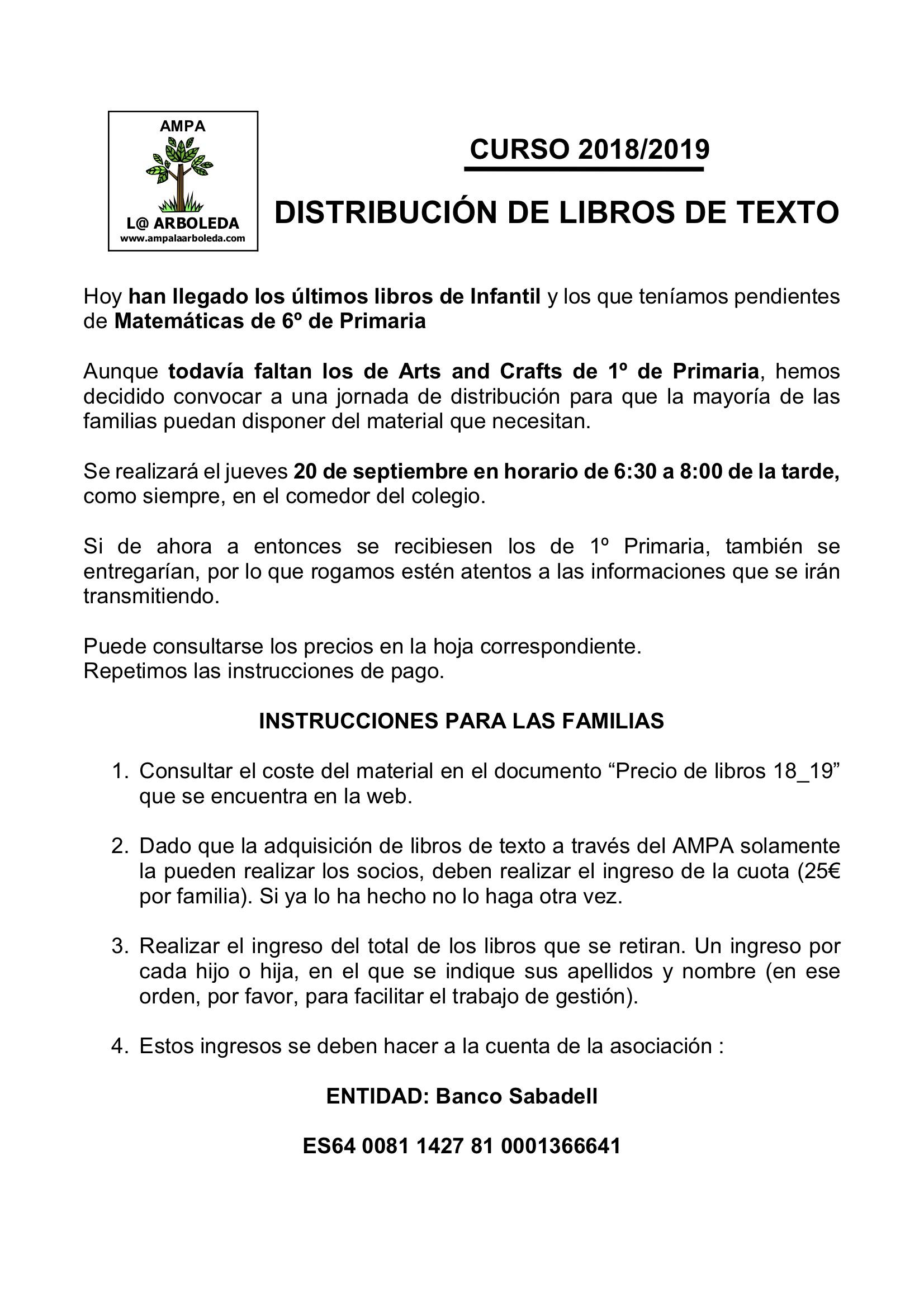1-CIRCULAR DISTRIBUCIÓN LIBROS 2018-19 segunda sesion