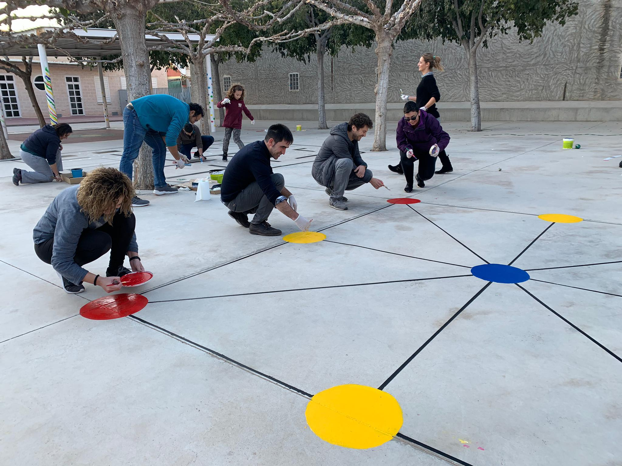 pintura patio infantil 1 - La Arboleda